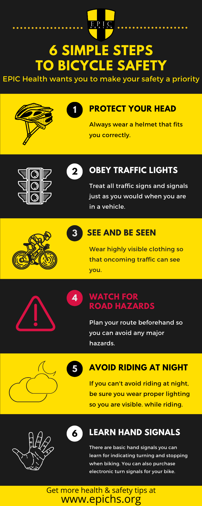 Bicycle Safety Infographic